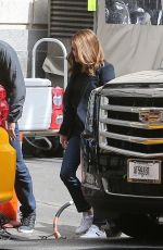 Reese Witherspoon Works on filming scenes on the set of