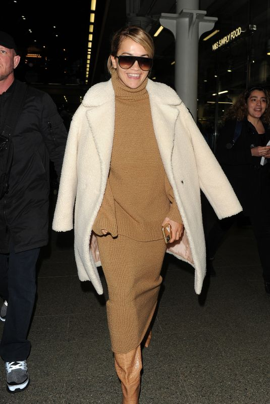 Rita Ora Arrives at Kings Cross on a Eurostar train from Paris in London