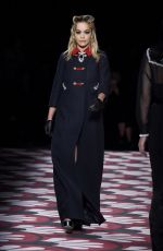 Rita Ora On Runway on Miu Miu show Fall Winter 2020, Paris Fashion Week, France