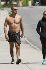 Robin Wright and husband Clement Giraudet keep their fit bodies in shape with a walk in Santa Monica