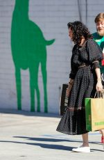 Rumer Willis Stocks up on puppy food at Healthy Spot pet supply in Los Angeles