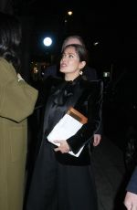 Salma Hayek And husband Francois-Henri Pinault have dinner with a friend at Oswald