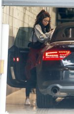 Sarah Hyland Spotted heading to a friends house during the Coronavirus outbreak in Los Angeles