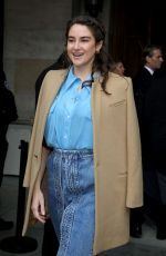Shailene Woodley At Stella McCartney Show at Paris Fashion Week in Paris, France