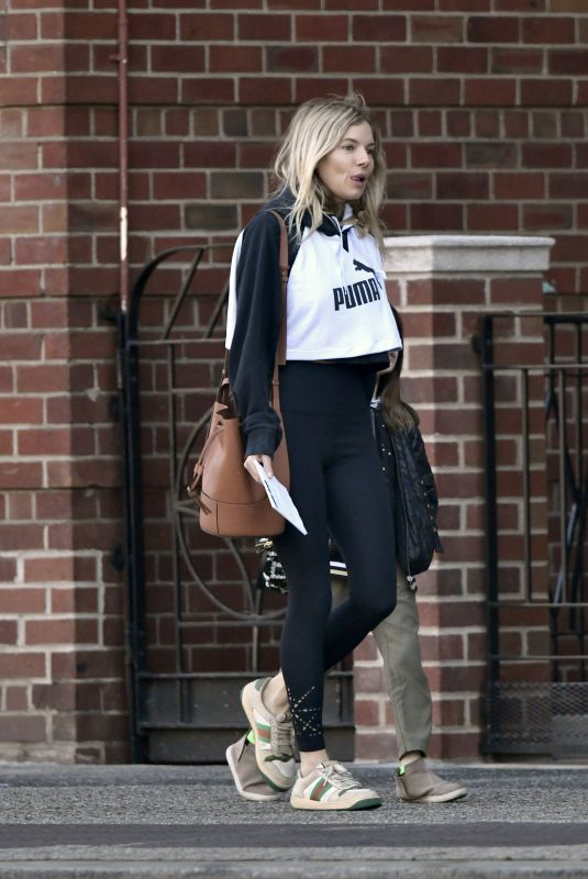Sienna Miller Pictured stepping out in New York City
