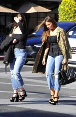 Sofia Vergara Poses for a picture with a valet attendant as she departs after lunch with friends at Il Pastaio in Beverly Hills