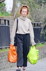 Stacey Dooley Looks exhausted as she stocks up on some essentials - London