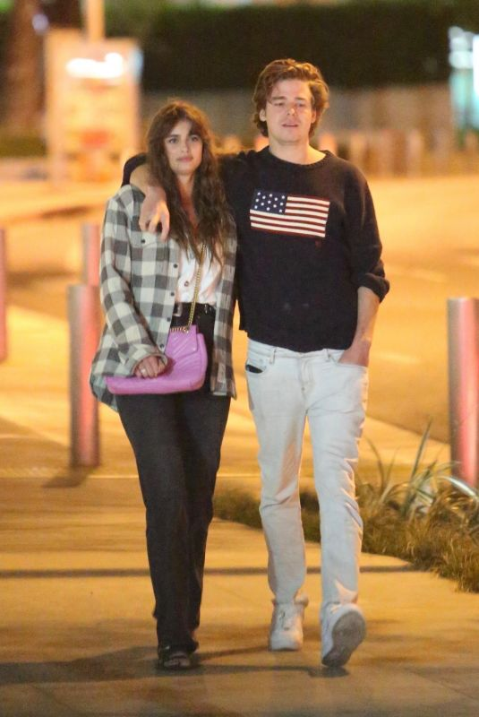 Taylor Hill Enjoys a late walk with her boyfriend in West Hollywood