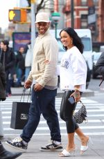 Victor Cruz and Karrueche Tran look inseparable after shopping at Kith in NYC
