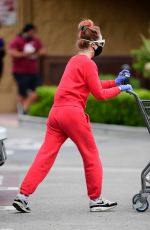Alessandra Torresani Wears PPE gear to the Store