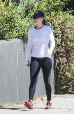 Ali Larter Displays her slim body while out during her exercise routine in Santa Monica