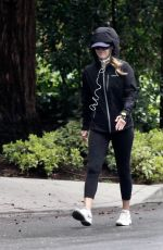 Ali Larter Does her daily power walk in Santa Monica