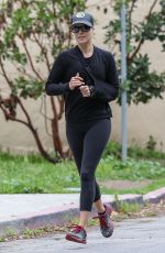 Ali Larter Out for a jog in Santa Monica