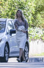 Ali Larter Walking her dog in Pacific Palisades