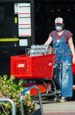 Alyson Hannigan Steps out for some food and shopping at Ace Hardware store in Los Angeles