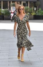 Amanda Holden Leaving the Global studios the Heart Radio Breakfast show in London