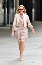 Amanda Holden Looks stunning in Floral Dress as she exits Heart Radio after her show