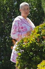 Amber Rose Takes a walk around her neighborhood in LA