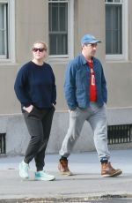 Amy Schumer and Chris Fischer take a walk in deserted Manhattan