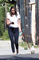 Ana de Armas Taking a walk with her dog in Venice