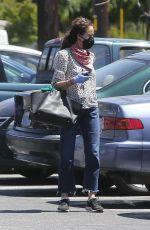 Andie MacDowell Makes a trip to her local market after allegedly sneaking out of an LA park