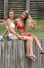 Angel Holley Pictured with a friend at Bondi Beach