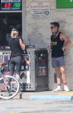 Annabelle Wallis Out for a bike ride with Chris Pine in Los Angeles