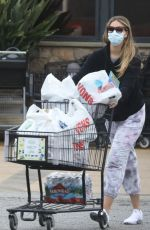 April Love Geary is back at the supermarket stocking up on food