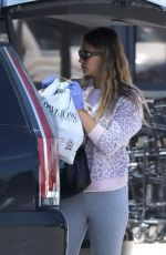 April Love Geary Preps for a Birthday with Balloons and Food in Malibu