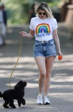 Ashley James Walking her dog in Local park