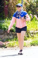 Beth Behrs Out for a run in Los Angeles