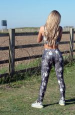 Bianca Gascoigne Working out in Gravesend in Kent
