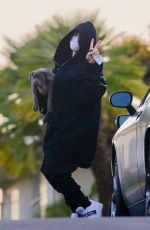 Billie Eilish Steps out with her new puppy during COVID-19 Safer At Home order