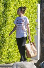 Britt Robertson Brings groceries to her neighbor safer at home order in Los Angeles