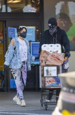 Brittany Furlan Seen stocking up on groceries and toilet paper during the COVID-19 Pandemic in Calabasas