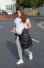 Chloe Goodman Shows off her growing baby bump ahead of her imminent birth