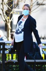 Chloe Sevigny Shows off her growing baby bump during an outing with boyfriend Sinisa Mackovic in New York City