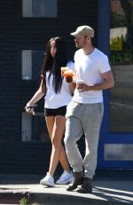 Claudia Traisac and her boyfriend go out for coffee in Los Feliz
