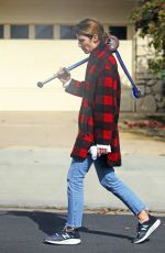Cobie Smulders Takes a stroll with her husband Taran Killam and their kids in Los Angeles