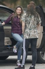 Danielle Fishel Taking her dog to the vet in Los Angeles