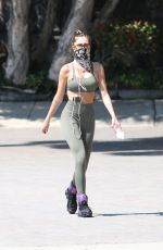 Delilah Belle Hamlin Heads Out for a Walk on Mulholand Drive Atop Beverly Hills