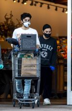 Demi Lovato & Max Ehrich Stocking up on groceries at Erewhon Organic store in Los Angeles