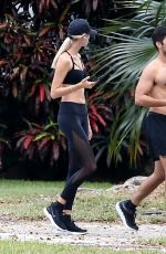 Devon Windsor Getting some exercise in Miami