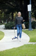 Diane Kruger Wiping down a park bench for her baby daughter in Los Angeles