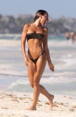 Elisa De Panicis Hits the beach with fellow model friend Elena Gusmeroli in Tulum