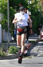 Elisabetta Canalis Working out while wearing Kangaroo Jumps in Los Angeles