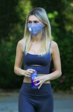 Ella Rose Put on a protective mask as she goes hiking at Fryman Canyon in Studio City