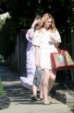 Elle and Dakota Fanning out in LA
