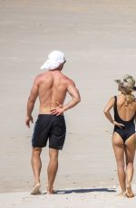 Elsa Pataky In swimsuit on vacation at Byron Bay