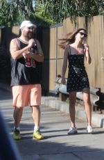 Emily Ratajkowski Out with friends in Los Angeles